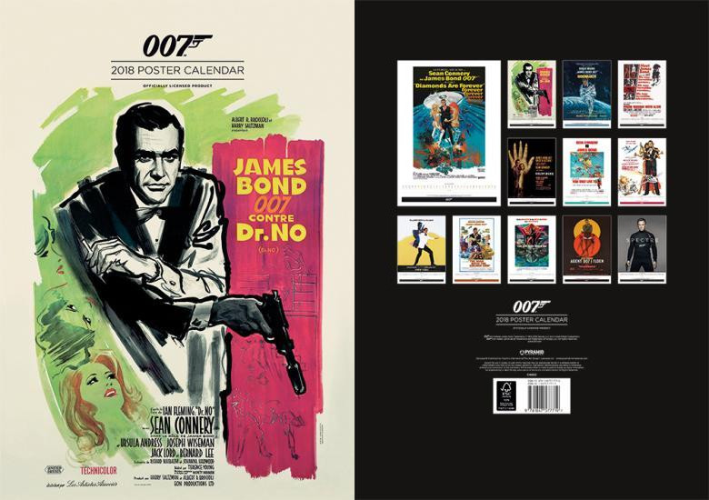 James Bond Official 2018 Calendar