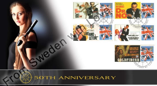 James bond stamps 50th anniversary