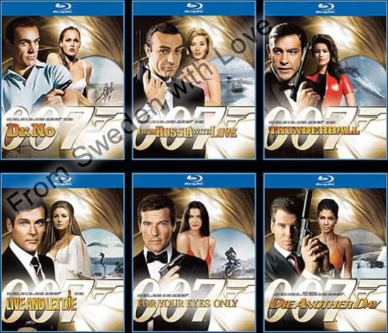 James bond blu ray set1