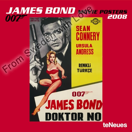 James Bond Movie Posters 2008 Calendar