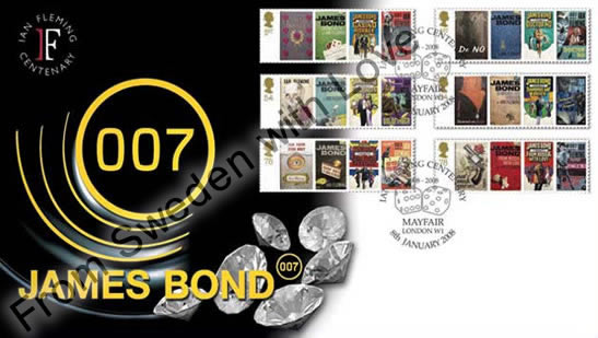 James bond stamps 1