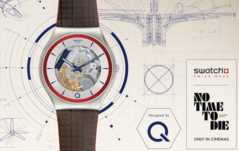 Q No Time To Die Swatch 007 watch