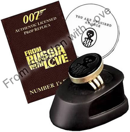 Officially licensed james bond spectre ring