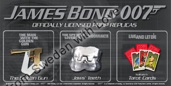 Officially licensed james bond prop replicas