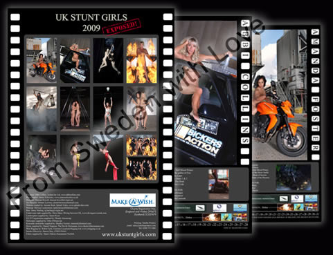 UK stunt girls calendar 2009