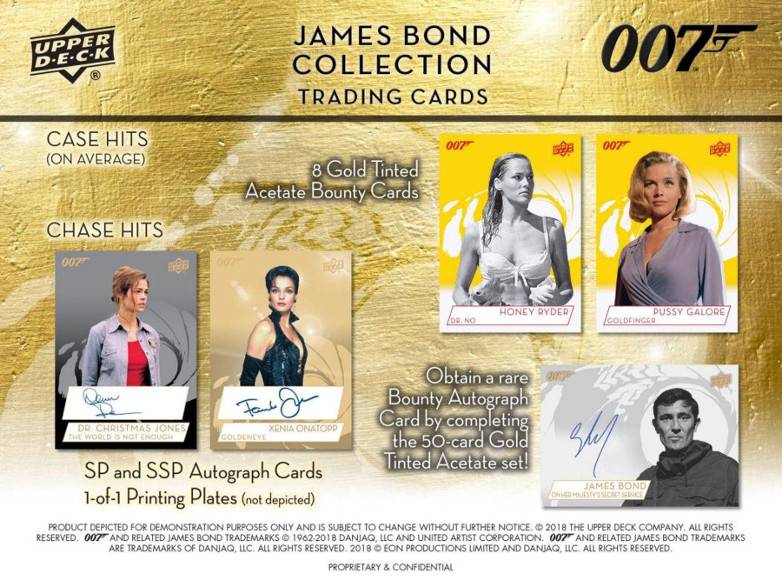Sean Connery James Bond Trading 007 Cards Upper Deck