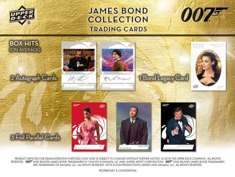 Roger Moore James Bond Trading 007 Cards Upper Deck