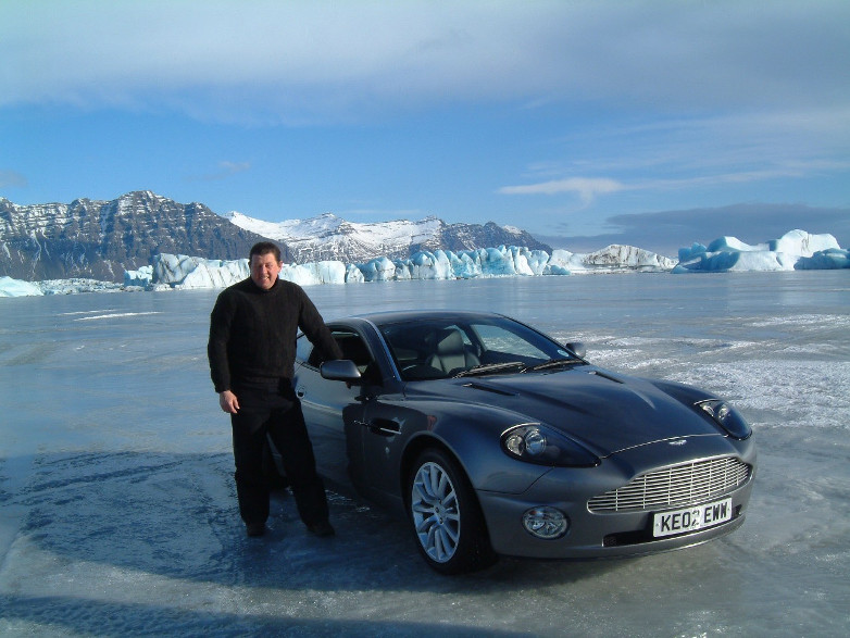 Jim Dowdall in Iceland for Die Another Day 2002